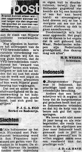 01a. Krantenartikel van mij (sept. 1983) aan AD betr. m.s. 'Friesland'