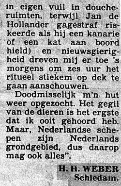 01c. Krantenartikel van mij (sept. 1983) aan AD betr. m.s. 'Friesland' - kopie